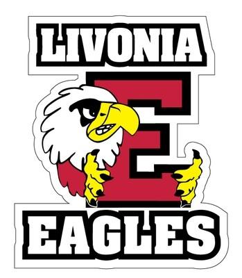 "Eagles Logo Car Decal 8"""