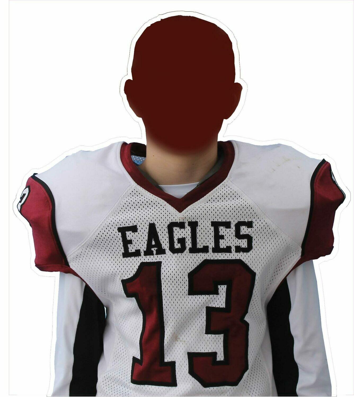 Football Player or Cheerleader cutout