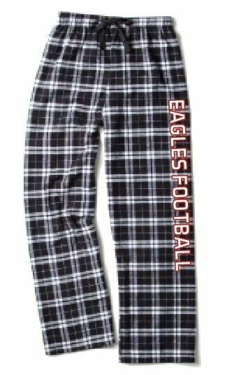 Eagles Football Flannel Pant - Black and white