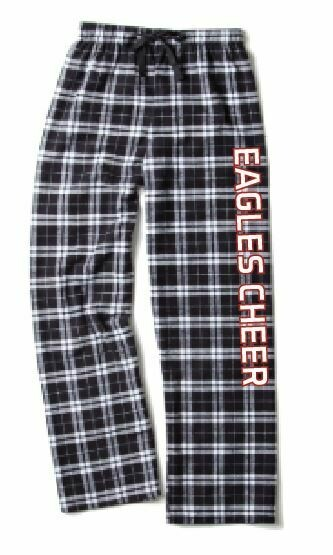Eagles Cheer Flannel Pant - Black and white
