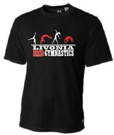 Livonia Red Gymnastics Design 2 Cooling Performance T-Shirt