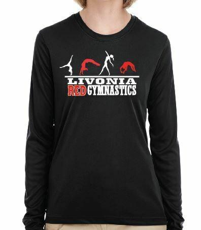 Livonia Red Gymnastics Design 2 - BELLA+CANVAS® Adult Unisex Long Sleeve Jersey Tee