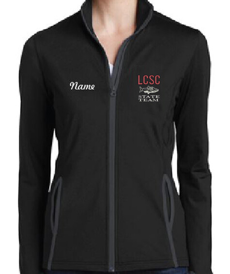 LCSC State Ladies Warm up Jacket with Fish logo