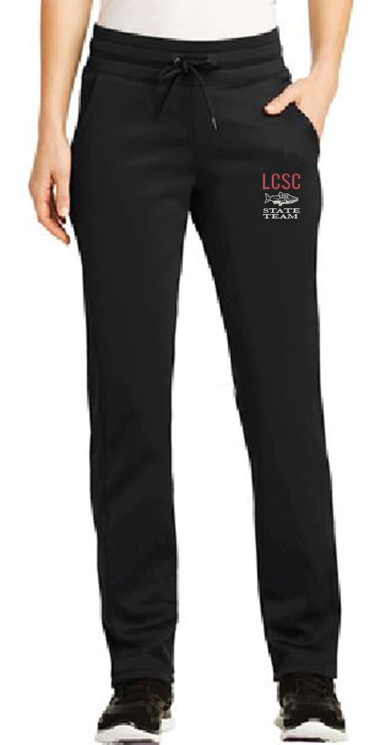 LCSC State Ladies Sweat Pant with the Fish Logo