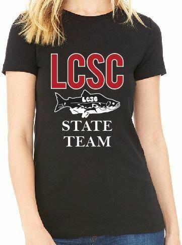 LCSC State Ladies Bella + Canvas Tee shirt
