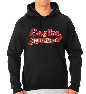 Eagle Cheer or Football Swoosh Hoodie
