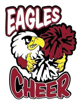 """Eagles Cheer  Car Decal 8"""""""