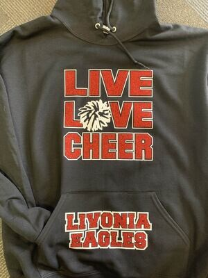 Live Love Cheer Sparkle Hoodie
