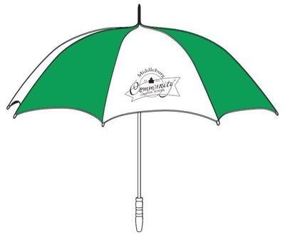 "60"" Arc Golf Umbrella with MCCS Logo"