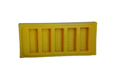 Silicone Beeswax Mold - 5 - 1oz. Bars