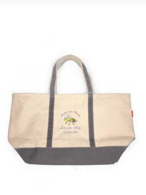 Save the Bees Save the World Dipped Tote