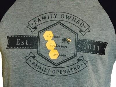 Central Beekeepers Supply Set 2011 Raglan 3/4 Sleeve