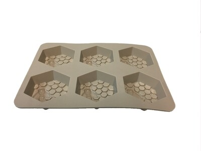 6 Cavity Hexagon Honeycomb Bee Silicone Mold