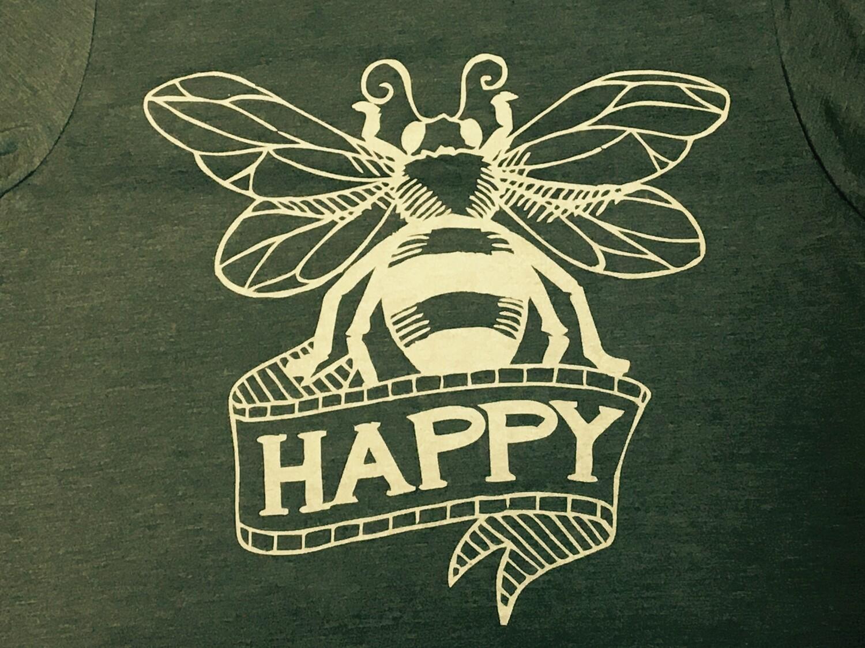 Be Happy Honey Bee T-Shirt