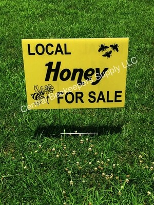 Honey for Sale Yard Sign