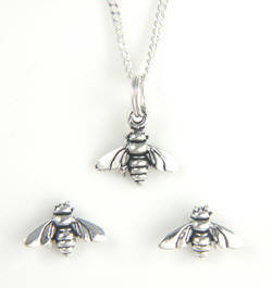 Sterling Silver Matching Honey Bee Set