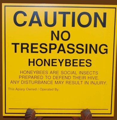 Caution No Trespassing Sign