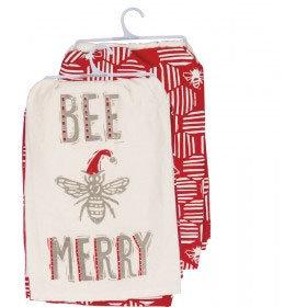 Bee Merry Dish Towel Set