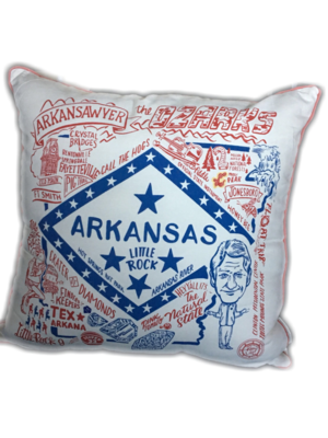 Akrkansas Throw Pillow