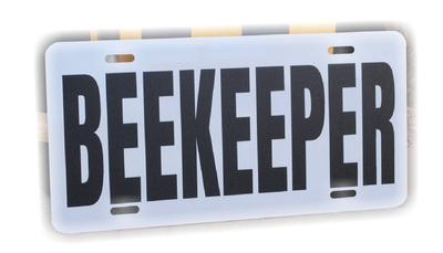 Beekeeper License Plate
