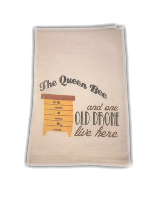 The Queen Bee & One Old Drone Dish Towel