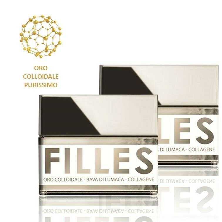 2 Vasetti FILLES - Crema FERMATEMPO 50ml - Oro Colloidale, Bava di Lumaca e Collagene