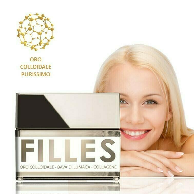 FILLES - Crema FERMATEMPO 50ml - Oro Colloidale, Bava di Lumaca e Collagene