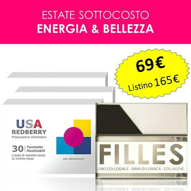 PROMO ENERGIA E BELLEZZA: 3 Redberry + 1 Crema Filles