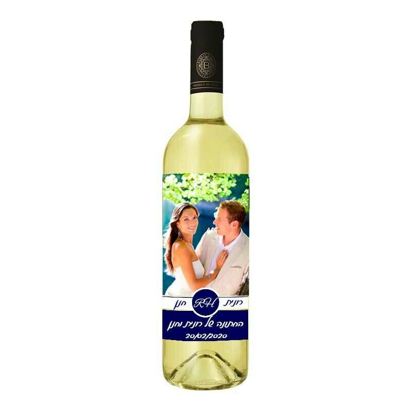 בקבוק יין עם תווית אישית