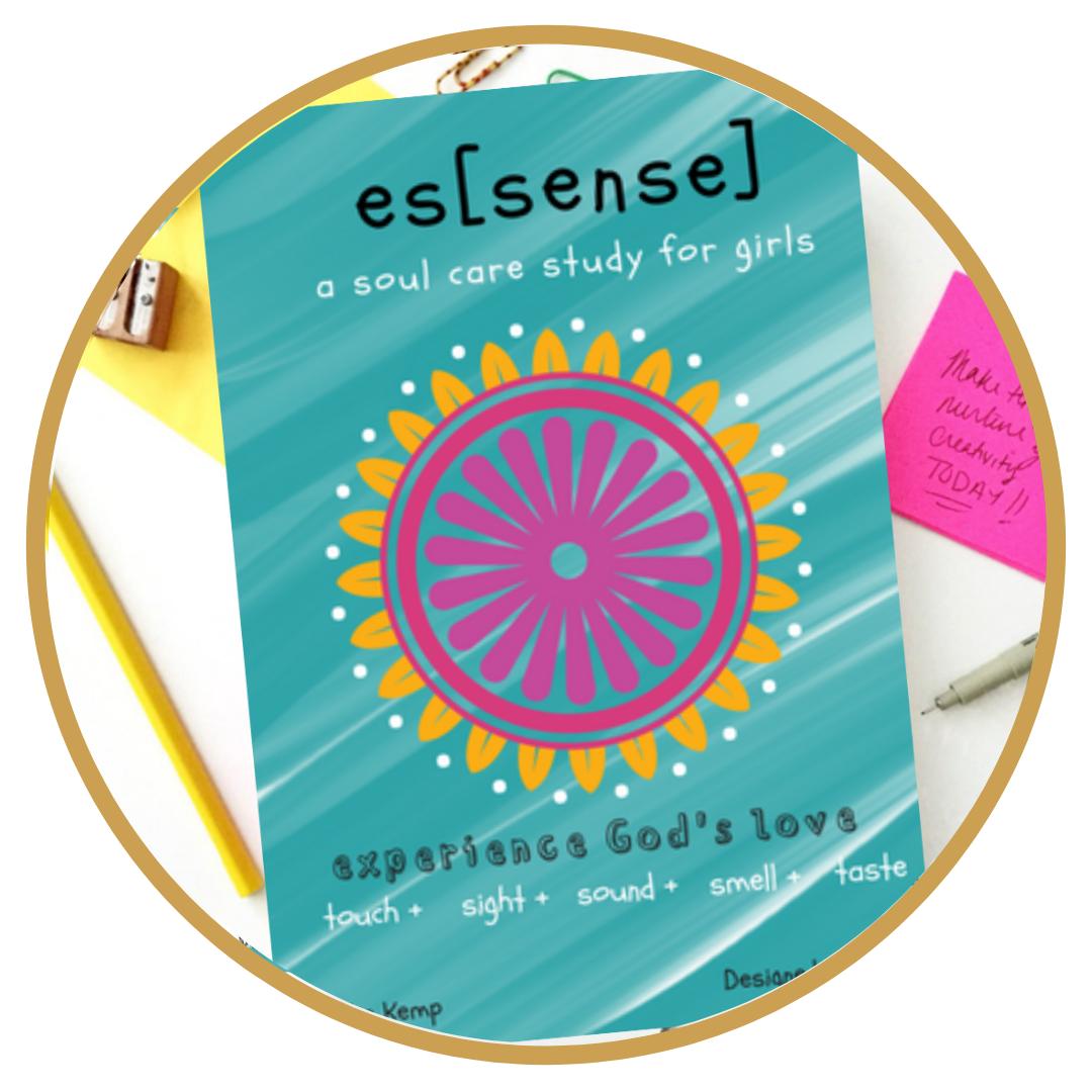 esSense, A Soul Care Coloring Devotional by Katie E. Kemp || Ages 9-17