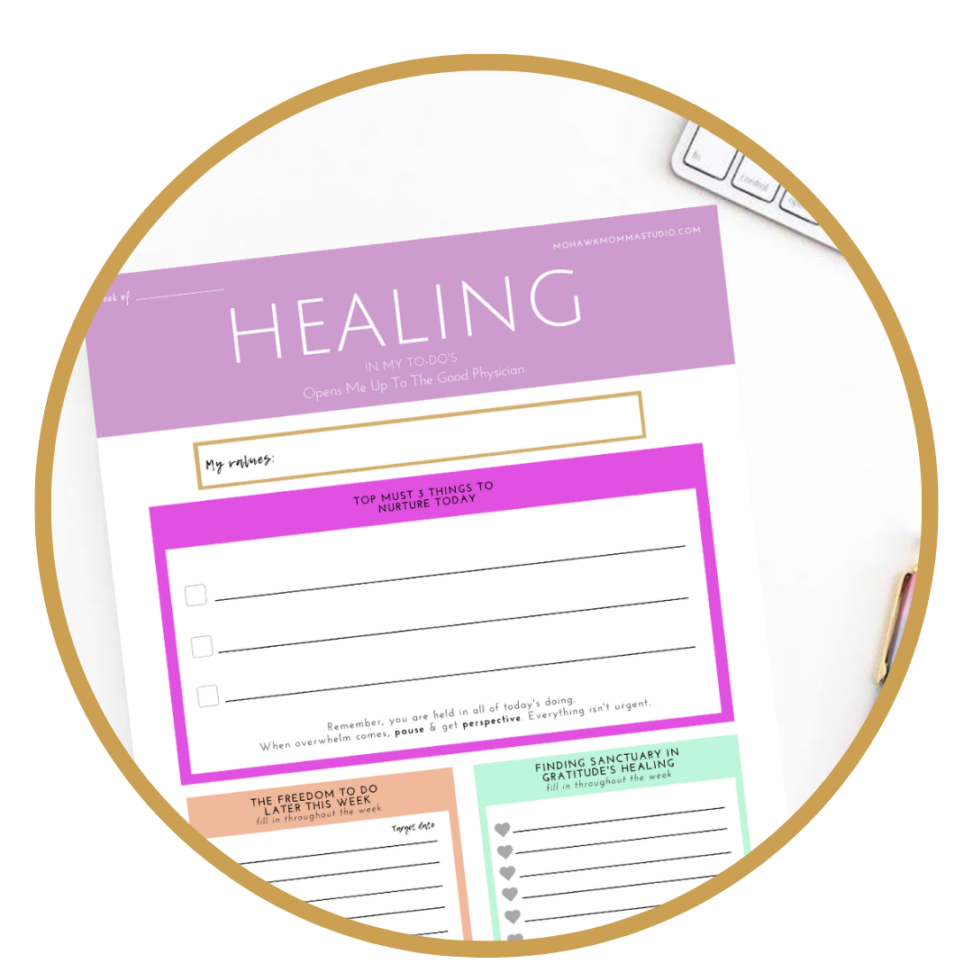 "Healing To-Do Notepad    by Andrea ""Mohawkmomma"" Palmer"