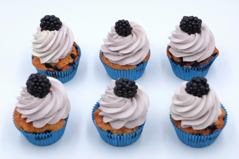 Borůvkové cupcakes