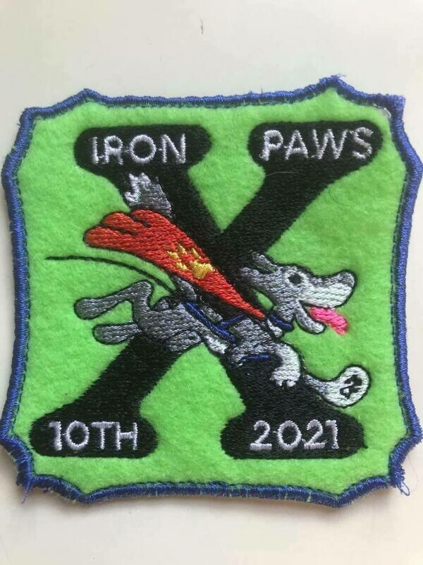Iron Paws 10th Annual Patch