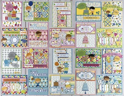 Doodlebug Birthday Card Kit