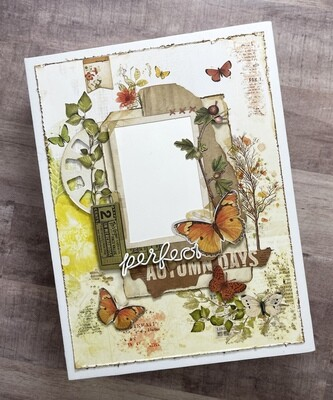 49 & Market Vintage Artistry In The Leaves Mini Album and Layout