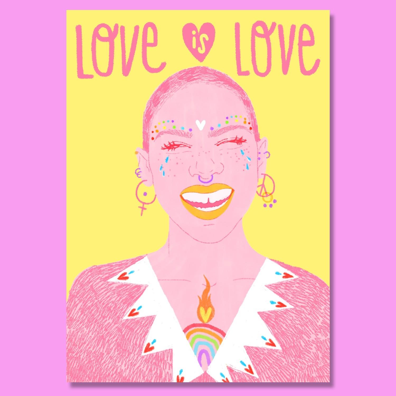 "Lámina ""Love Is Love"""