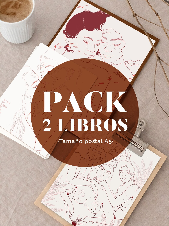 PACK 2 LIBROS COLOREABLES TAMAÑO POSTAL Unidades Limitadas