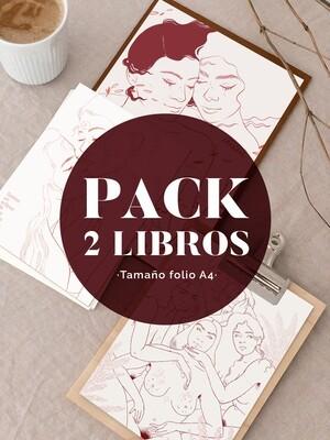 PACK 2 LIBROS COLOREABLES TAMAÑO FOLIO Unidades Limitadas