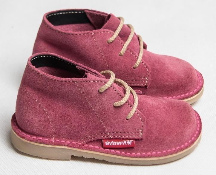 Kiddies Veldskoen Suede Cerise Pink