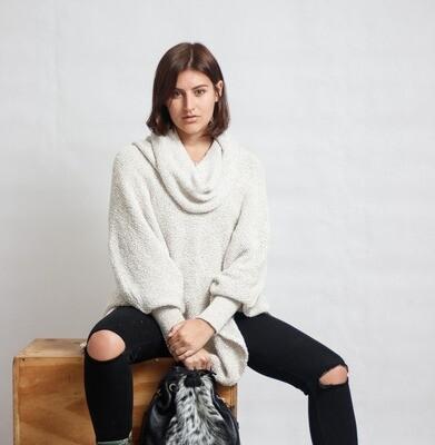 Poncho DBL-Knit Brindle