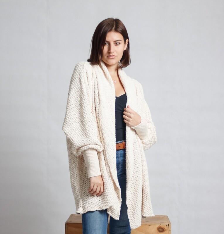 Waterfall Pine-Knit Cream LDS
