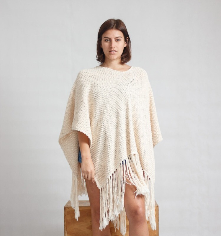 Shawl Pine-Knit Cream
