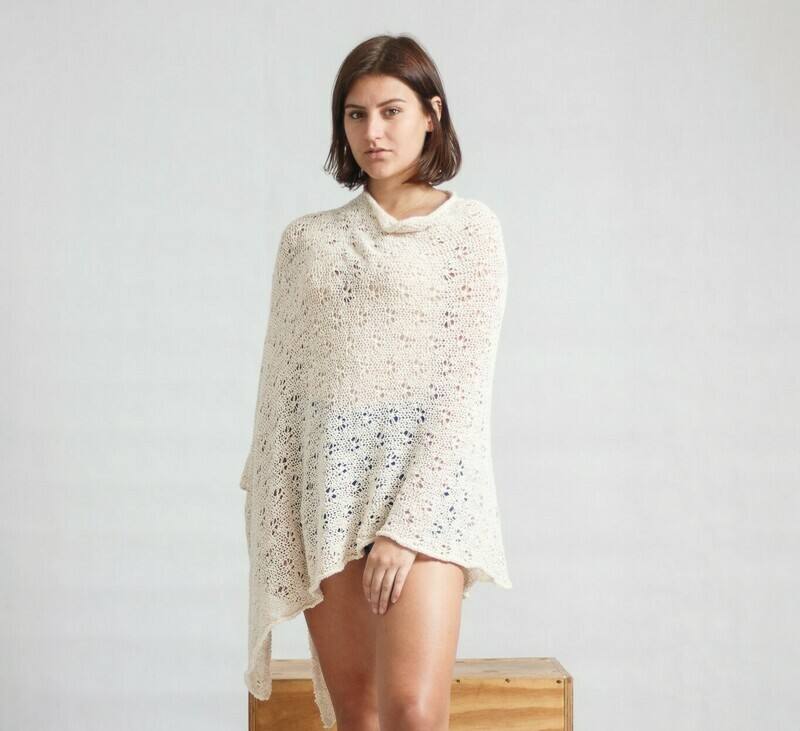 Summer Shawl Pine-Knit Cream