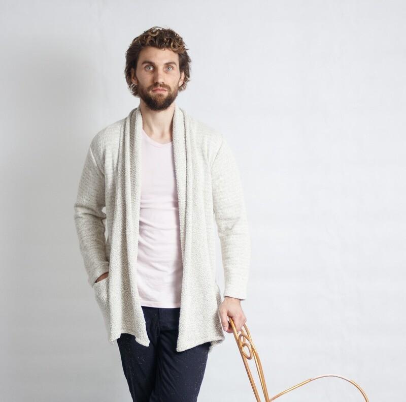 Men's Coat DBL-Knit Brindle MNS