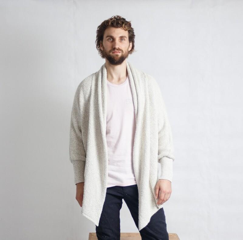 Waterfall Pine-Knit Cream MNS