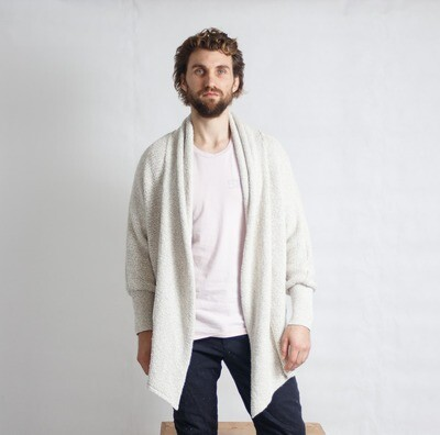 Waterfall Pine-Knit Cream MNS