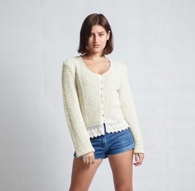 Jacket Lace Pine-Knit Cream