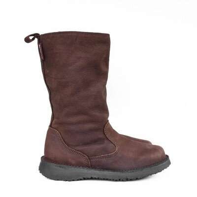 Eskimo Waxy Brown wool-lined ladies leather boot