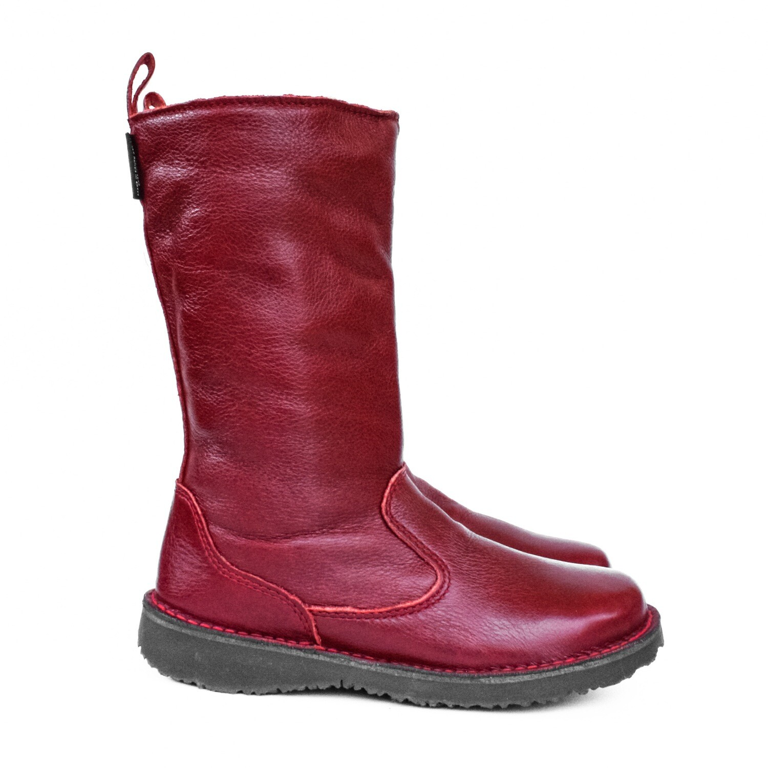 Eskimo Ruby Red wool-lined ladies leather boot