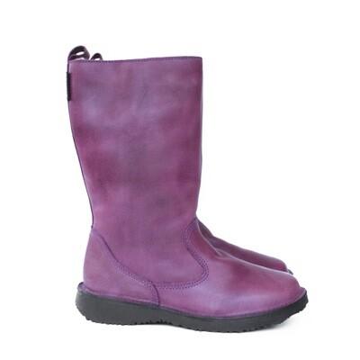 Eskimo Purple wool-lined ladies leather boot